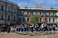 School Pipe Band Stock Photography