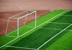 new school pitch. A newly built school pitch Stock Photo