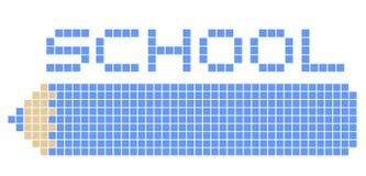School pixel Stock Image