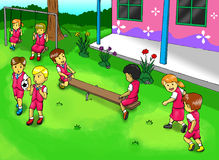 School Playground Royalty Free Stock Photography