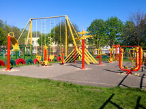 School playground for sports royalty free stock image