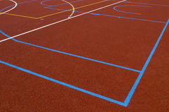 School playing field. Brand new school playing field built for EU money stock photos