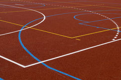 School playing field. Brand new playing field financed by EU in Poland Royalty Free Stock Images