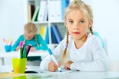 At school Royalty Free Stock Photography