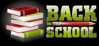 School poster. Back to school vector dark header Stock Photography