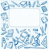 School vector stationery poster copybook stationery Stock Image