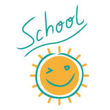 School-print with sun Stock Images