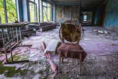 School in Pripyat Stock Image