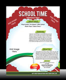 School Promotion Flyer Template Royalty Free Stock Photos