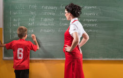 The school punishment Stock Photography