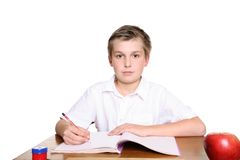 School pupil at desk Royalty Free Stock Images