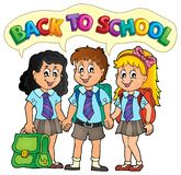 School pupils theme image 5 Royalty Free Stock Image