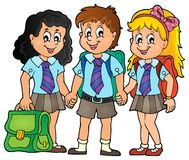 School pupils theme image 3 Royalty Free Stock Images