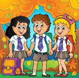 School pupils theme image 6 Royalty Free Stock Image
