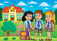 School pupils theme image 4 Royalty Free Stock Image