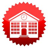 School, Red sun sign. Red sun sign school,  icon Royalty Free Stock Image