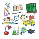 School related item illustration Stock Photo