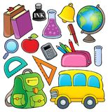 School related objects collection 1. Eps10 vector illustration stock illustration