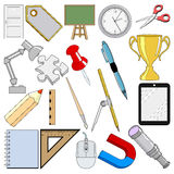 School related objects Stock Images