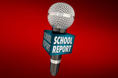 School Report Education News Microphone Update Royalty Free Stock Image