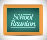 School reunion message written on a chalkboard Stock Photos