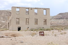 School in Rhyolite. A ruin of a school in the ghost town Rhyolite Royalty Free Stock Image