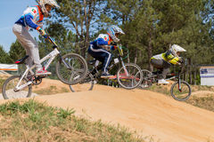 School riders during competition Stock Photography