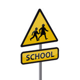 School road sign Royalty Free Stock Image