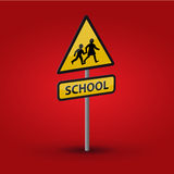 School road sign Royalty Free Stock Photo