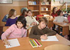 School routine stock images
