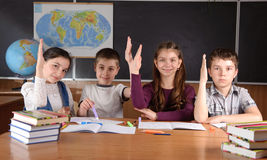 School routine Stock Image