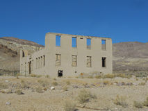 School ruins in Rhyolite. Ruins of the school building in the ghost town of Rhyolite in Death Valley Nevada USA Stock Photo