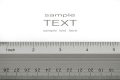 School ruler on white Royalty Free Stock Images