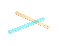 The school rulers Stock Photo