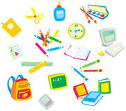 School rules 001. School illustrations and clip-arts for your design Royalty Free Stock Photography