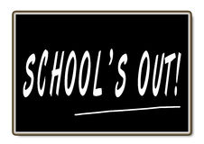 School S Out Stock Photo