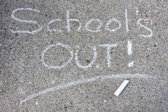 School's out Stock Photography