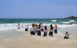Australia, Queensland: Students Celebrate End of School Year Royalty Free Stock Photos