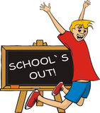 School`s out - happiness Royalty Free Stock Image