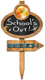 School's Out  - Sign for Beach Royalty Free Stock Image