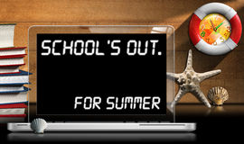 School's Out for Summer - Laptop Computer Stock Photo