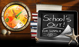 School's Out for Summer - Tablet Computer Stock Photo