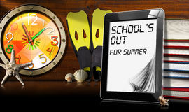 School's Out for Summer - Tablet Computer Stock Images