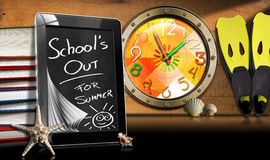 School's Out for Summer - Tablet Computer Royalty Free Stock Photo