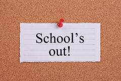 School s out Royalty Free Stock Images