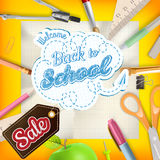 School sale background. EPS 10 Royalty Free Stock Images