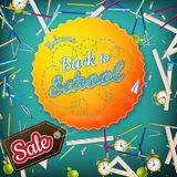 School Sale poster. EPS 10 Royalty Free Stock Photography