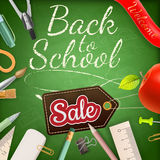 School Sale poster. EPS 10 Stock Photos
