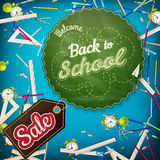 School Sale template. EPS 10 Stock Photography