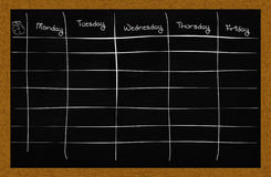 School schedule Stock Images